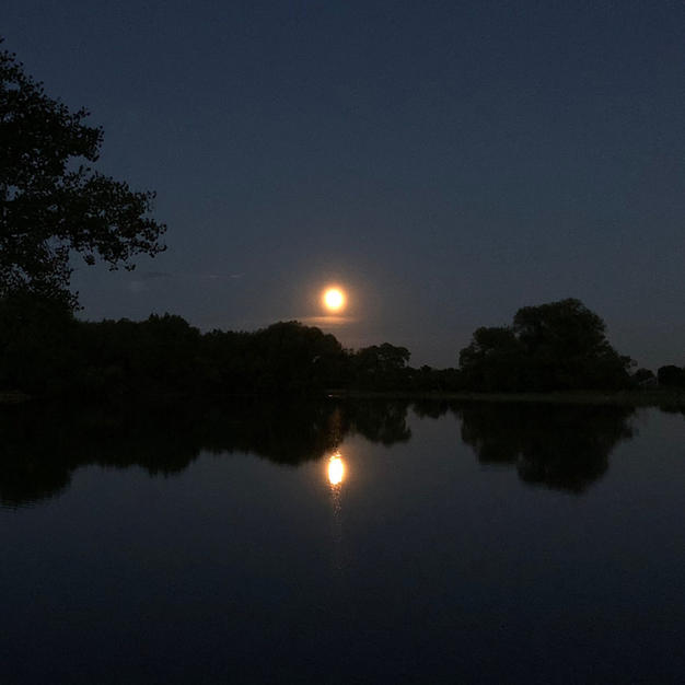 Twin Lakes Full Moon Rise