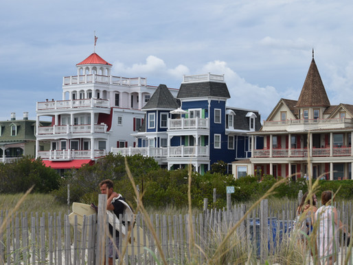 Cape May Beach: Tough Walk on Beach Full of Jetties. Coast Guard Beach Info. Poverty Beach to Cove.