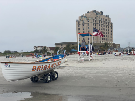 "Brigantine: AC's ""Suburban"" Beach. Marine Mammal Center. Dogs, 4x4s & fishermen on long, flat beach."