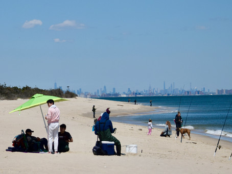 Inflatable Islands, Kayaks, Beaches (for Dogs, too) along Sandy Hook's First Three Miles