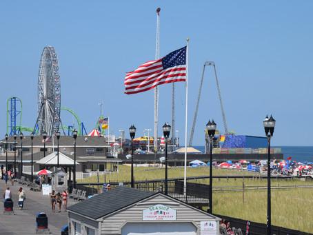 Seaside Heights: Casino Pier, Water Park, Busy Beach, Boardwalk Food from Pork Roll to Sweets.