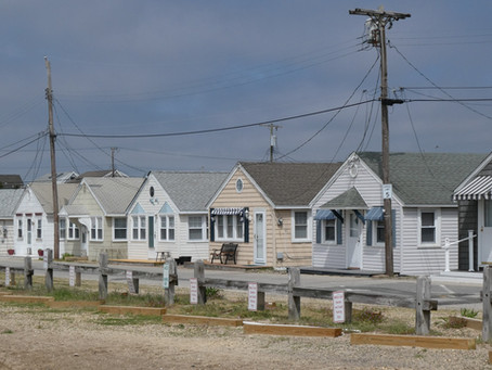 """South Seaside Park: Tiny, Quirky Beach. Site of Midway """"Battle of The Dunes""""."""