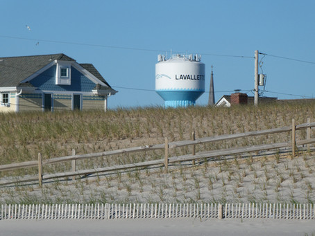 Lavallette: Popular Boardwalk for Walkers and Joggers. More Commerce than Northern Neighbors.