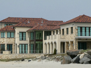 See the Real Deal (NJ) from the Beach. Two Miles of Mansions. Surfers Craving the Waves.