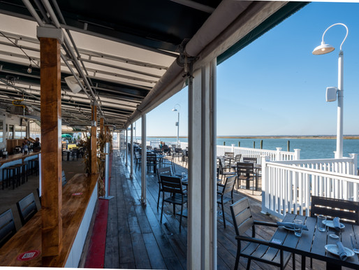 Deauville Inn: Warmest Outdoor Dining for Coldest Days at the Jersey Shore in Strathmere