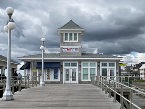 """Avon-by-the-Sea: Hyphenated Town with Iconic Pavilion. Don't Say AYY-von as in """"Avon calling""""."""