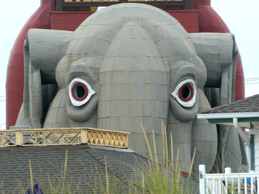 Margate: Don't Cross This Elephant. Become an Angler on the Pier. Down Beach in the Garden District.