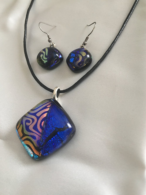 Fused Glass Matching Jewelry Set