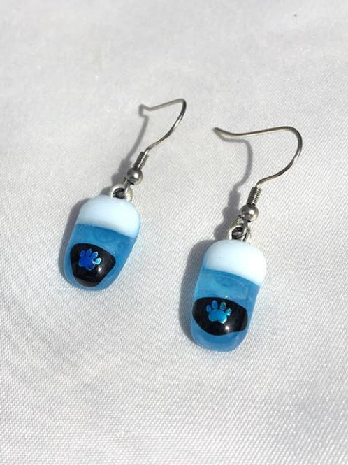 """Baby Blues"" small dangle earrings"