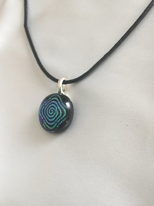 Small Fused Glass Pendant