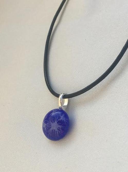 """Royal Blue Starburst"" small pendant"