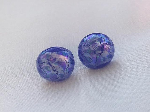 """Indigo Ice"" medium earring studs"