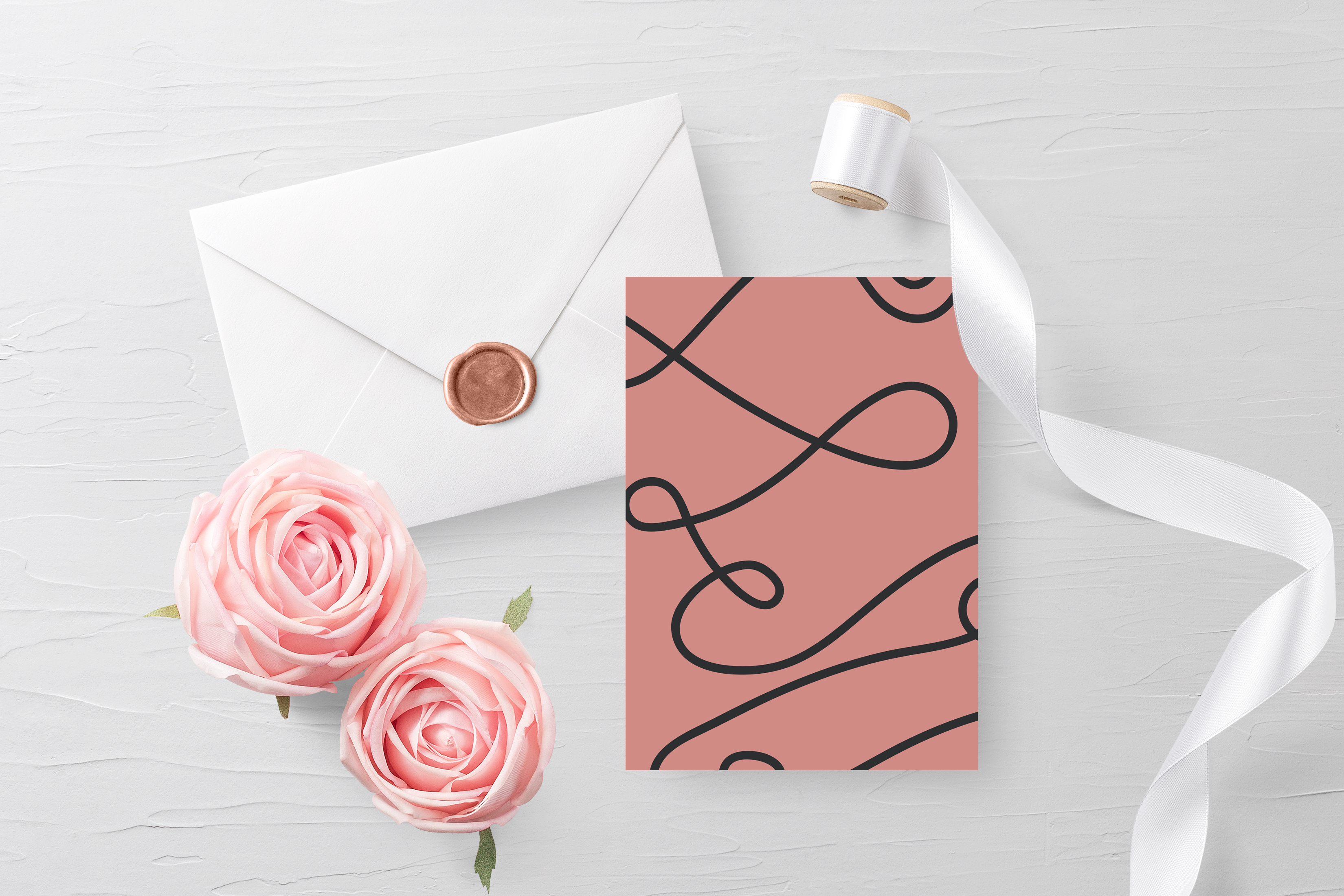 Free Customizable Invitation Card Mockup