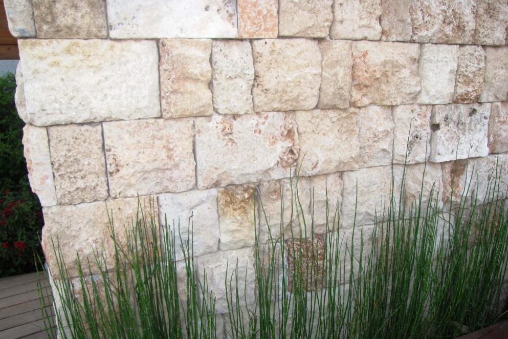 קיר אבן בגינה