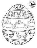 Derpy Pet Portraits Easter Coloring Page
