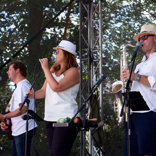 The Party band na pivním festivalu