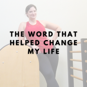 The word that helped change my life