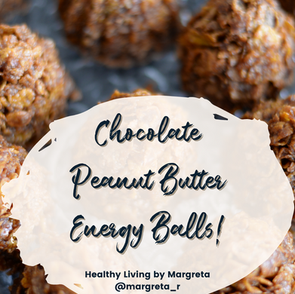 Healthy (and Tasty) Recipe: Chocolate Peanut Butter Energy Bites!