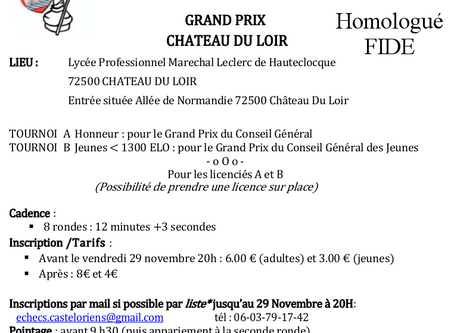 Affiche Grand Prix Château du Loir