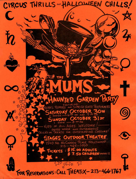The Mums Haunted Garden Party at Stages Theare