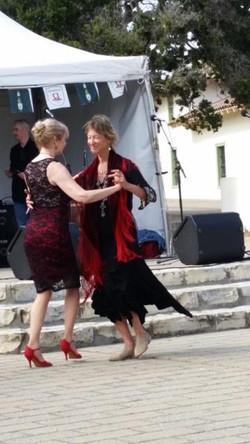 Tango with a fellow dancer