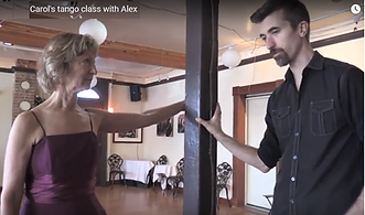 Carol studying tango with Alex Krebs