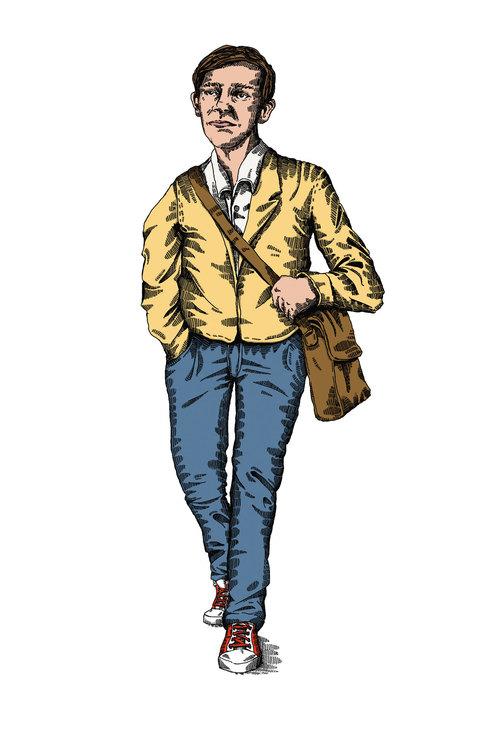 Digitale Illustration eines Mannes