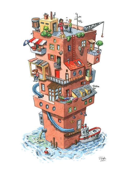 katz-illustration-hochhaus-wimmelbild