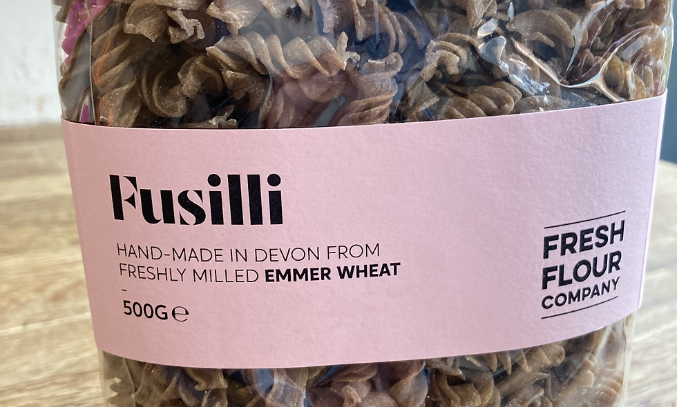 Emmer Fusilli Grown and Made in Devon