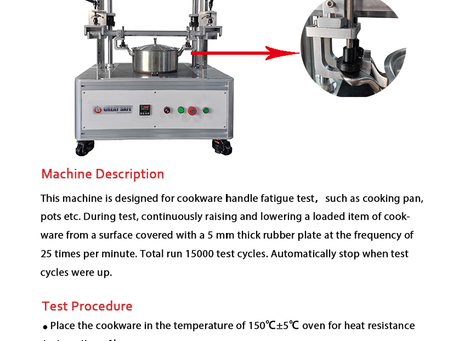 BS-12983-1 Cookware Handle Fatigue Tester
