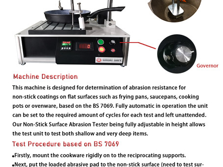 BS-7069 Non-stick Surface Abrasion Tester