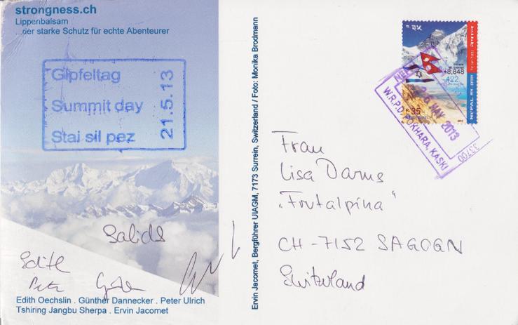 Dhaulagiri Postkarte
