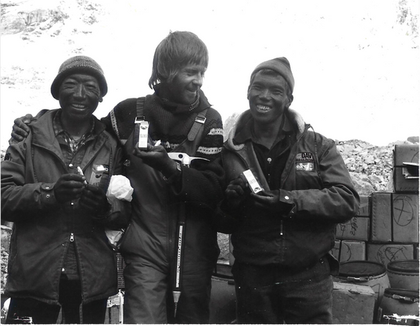 Messner und Sherpas