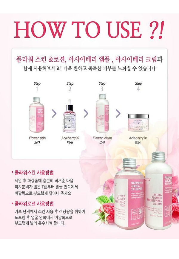 Hydra flower brightening skin & lotion