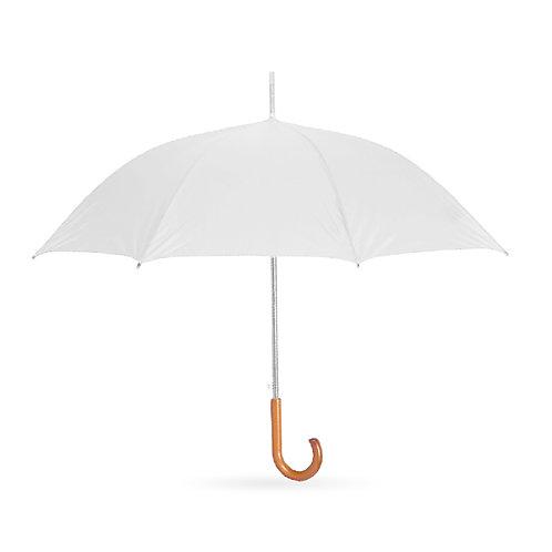 מטריה 23 אינץ', צבע לבן למיתוג אישי