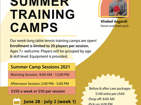 UPDATED: 2021 Summer Camps now open for enrollment!