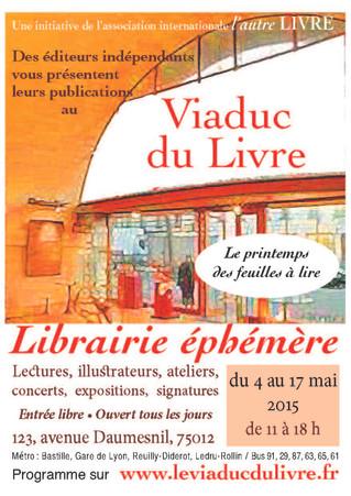 Librairie éphémère, Le Viaduc du Livre 2015
