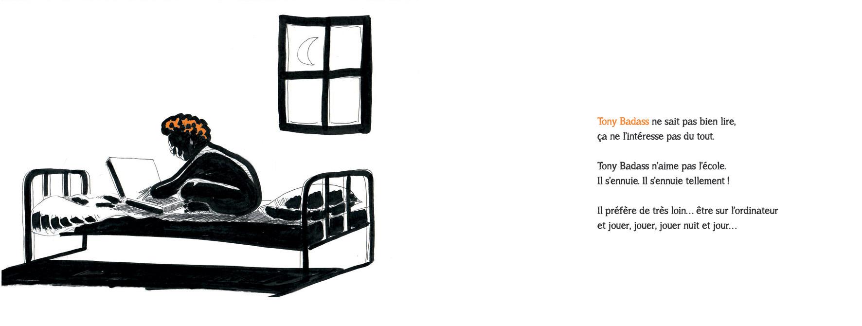 l histoire de tony badass le fou de jeux vid o de marc taupin clozel sarah taupin l 39 autre. Black Bedroom Furniture Sets. Home Design Ideas