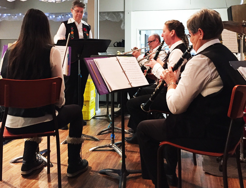 Community Band plays at the Legion