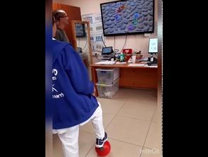 Interactive balance ball exercise with PLAYBALL