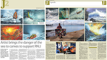 "J2 magazine: ""Artist brings the danger of the sea to canvas to support the RNLI"""