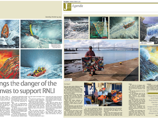 """J2 magazine: """"Artist brings the danger of the sea to canvas to support the RNLI"""""""