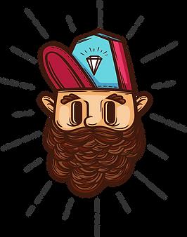 Hipster avec Diamant Cap