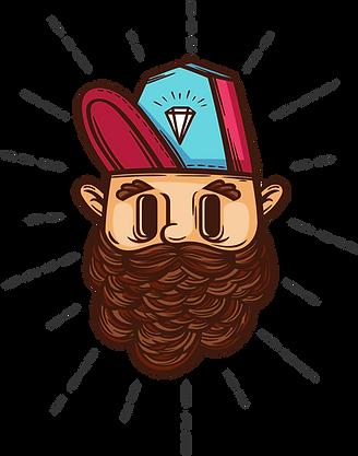 Hipster med Diamond Cap