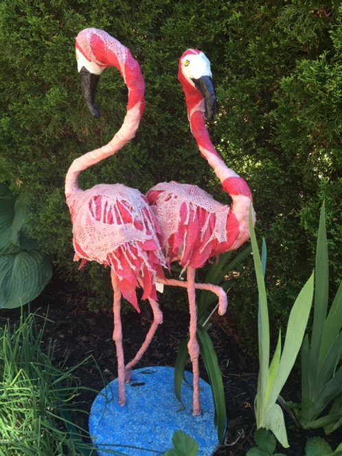 Fran and Fern the Flamingos