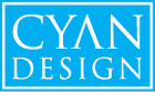 Beautiful Objects for Beautiful Lives. Cyan Design is the source for unique decorative objects. Decorative accessories for the most vibrant interior design. Over 2,100 designer accessories that are in stock and typically ship within 24 hours. Cyan Design continuously updates our product line of ornamental objects, stunning glass vases, garden and patio objects, embellished frames, mirrors, wall decor and a vast collection of the finest lighting fixtures. Home remodelers, interior designers, decorators, and independent retail customers all rely on Cyan Design's vast inventory and award-winning customer service.
