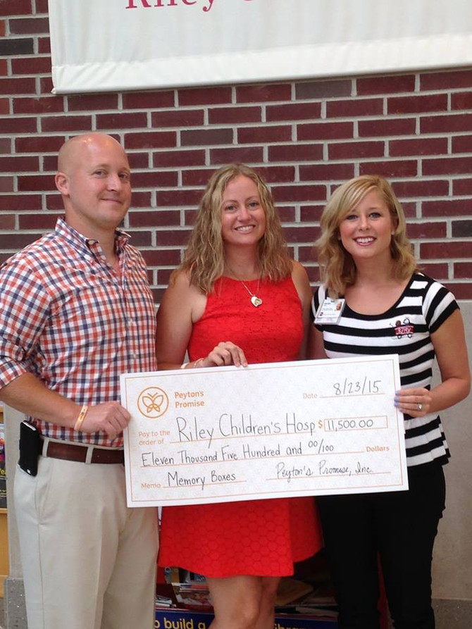 $11,500 Delivered to Riley for Memory Boxes