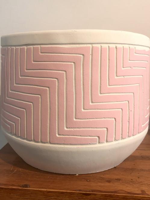 Pink Geometric Pot