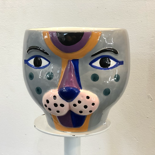 Funky Leopard Pot