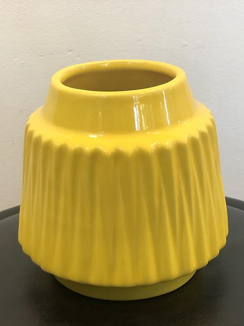 Bright Yellow Funky Pot